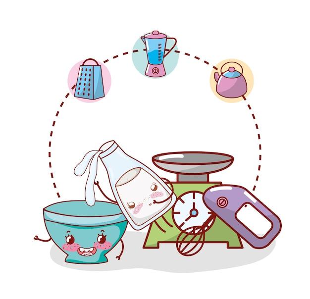 Küchenartikel cartoon kawaii cartoon