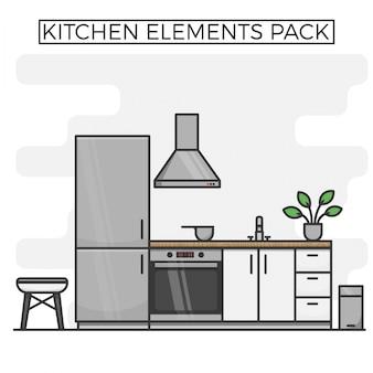 Küchenelemente pack