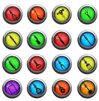 Küchengeräte. einfach symbol für web-icons