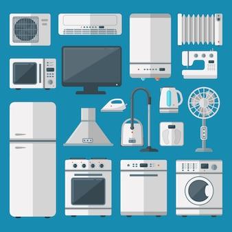 Küchengeräte eingestellt