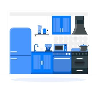 Küchengeräte-konzeptillustration