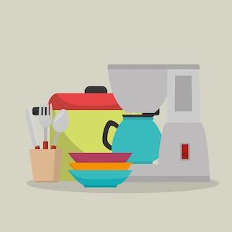 Küchengeräte stellen icons