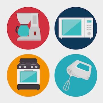 Küchengeräte und geschirr