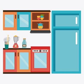 Küchengestaltung.