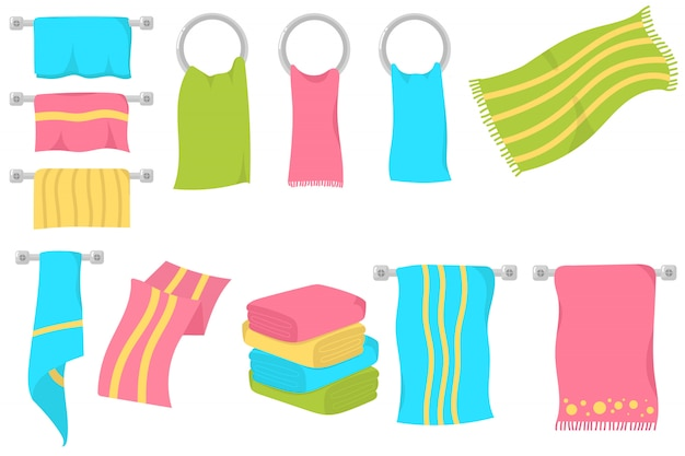 Küchenhandtücher, duschlappen oder strand.