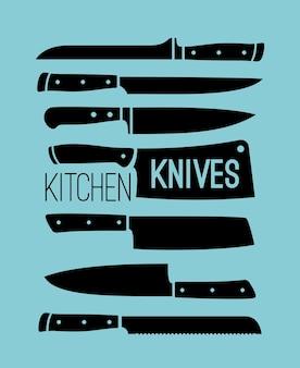 Küchenmesser gesetzt