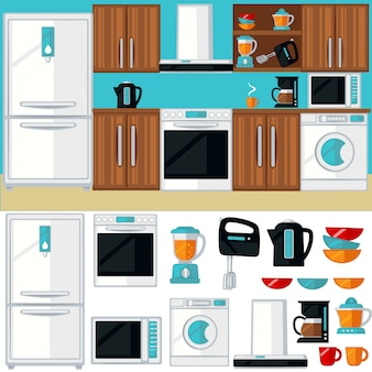 Küchenraum mit möbeln