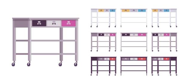 Küchenrolltisch, servierwagen