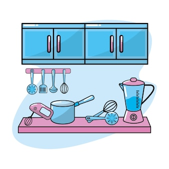 Küchenutensilien traditionelles objekt element