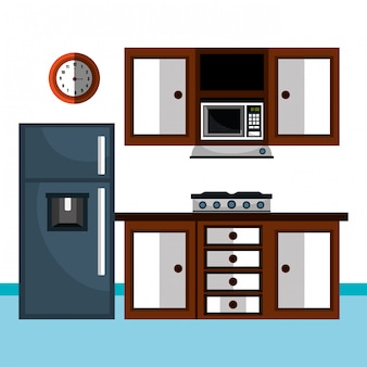 Küchenutensilien und geschirr