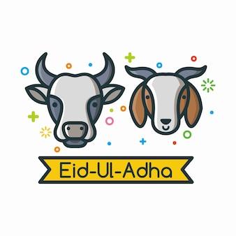 Kühe und ziegen happy eid ul adha