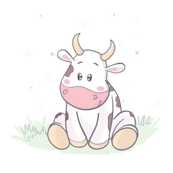 Kühe weiden auf der wiese.