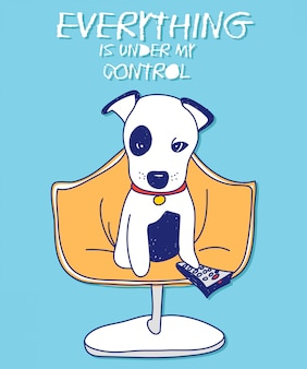 Kühles hundevektordesign für t-shirt drucken