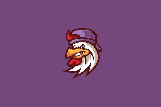 Kühles sport-logo des küken-e