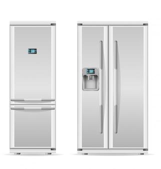 Kühlschrank für hauptgebrauchsvektorillustration