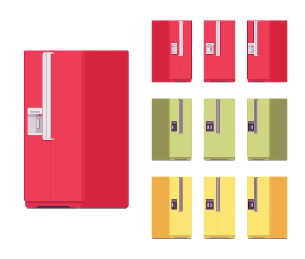 Kühlschrank hell set, küchenausstattung