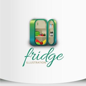 Kühlschrank illustration desig