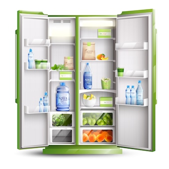 Kühlschrank öffnen