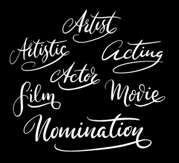 Künstler nominierung handschrift kalligraphie