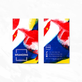 Künstlerische branding-karte