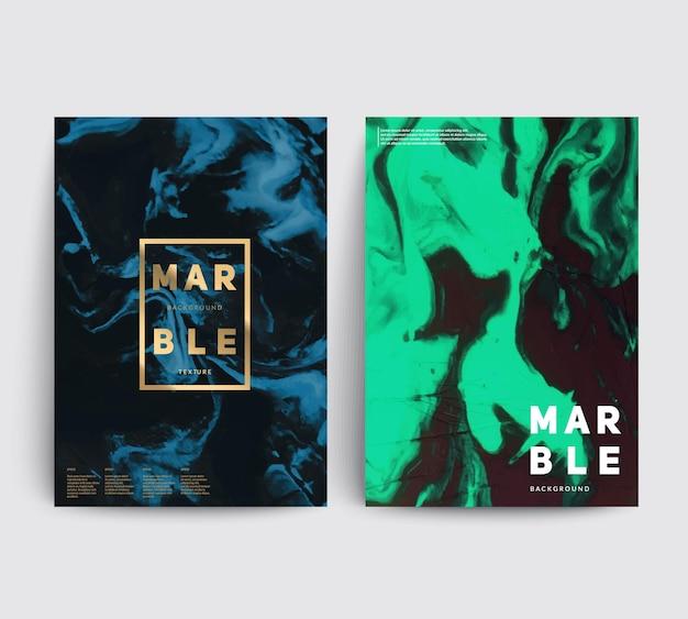 Künstlerische cover design. kreative flüssige farbe