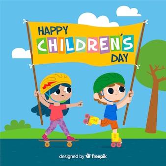 Künstlerische illustration für kindertagesereignis