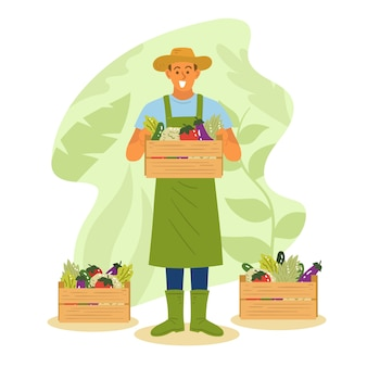 Künstlerische illustration mit landwirtschaftskonzept