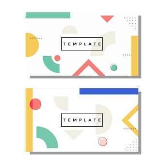 Künstlerische memphis-visitenkarte