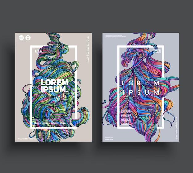Künstlerische plakatvorlagen.