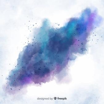 Künstlerischer abstrakter aquarellfleckhintergrund