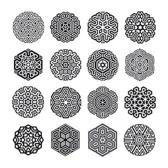 Künstlerischer dekorativer form-satz