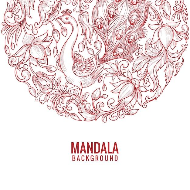 Künstlerischer dekorativer mandala-hintergrund