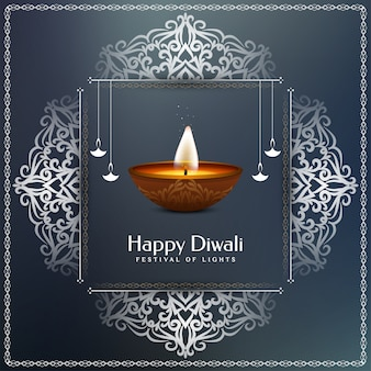 Künstlerischer glücklicher eleganter religiöser hintergrund diwali