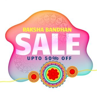 Künstlerischer raksha bandhan verkaufshintergrund