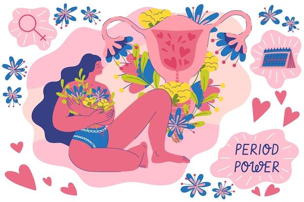 Künstlerischer stil des weiblichen fortpflanzungssystems