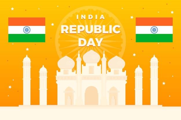 Künstlerisches design für tag der republik indien