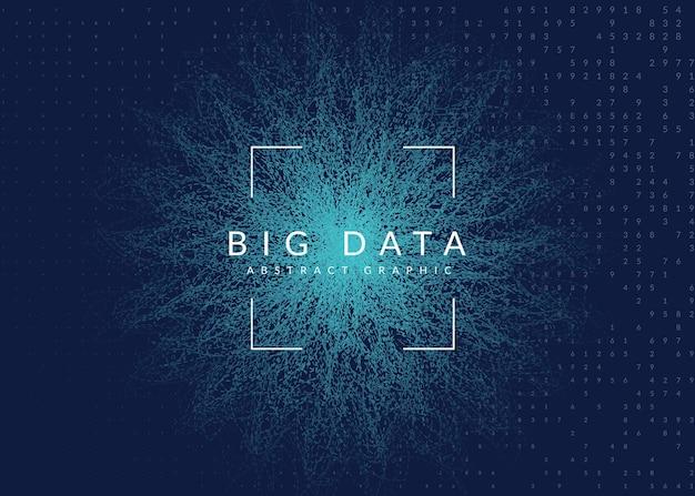 Künstliche intelligenz. abstrakter hintergrund. digitale technologie, deep learning und big data-konzept. tech-visual für energievorlage. geometrischer hintergrund der künstlichen intelligenz.