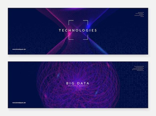 Künstliche intelligenz. abstraktes banner