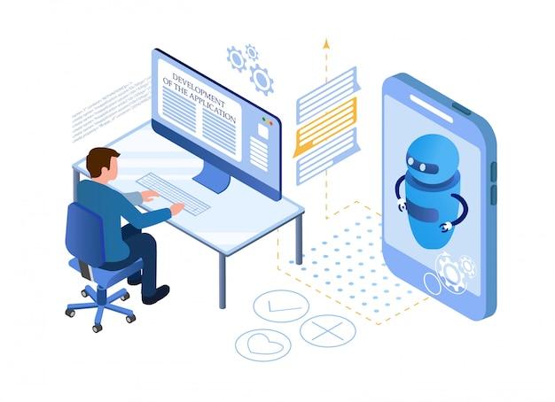 Künstliche intelligenz. chat bot und marketing