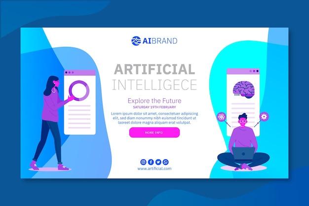 Künstliche intelligenz erforscht das zukünftige banner