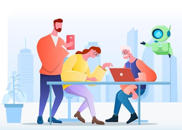 Künstliche intelligenz für alle altersgruppen für bessere werke