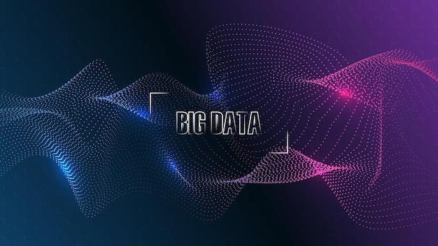 Künstliche intelligenz, hintergrund der ki-technologie. big-data-konzept. hi-tech-kommunikationskonzept innovation abstrakte hintergrundvektorillustration