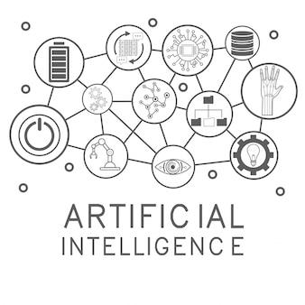 Künstliche intelligenz icons