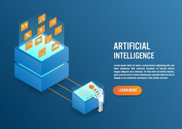 Künstliche intelligenz im isometrischen design