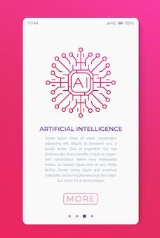 Künstliche intelligenz in der mobilen app.