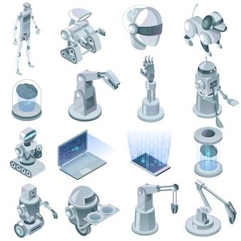 Künstliche intelligenz isometrie set
