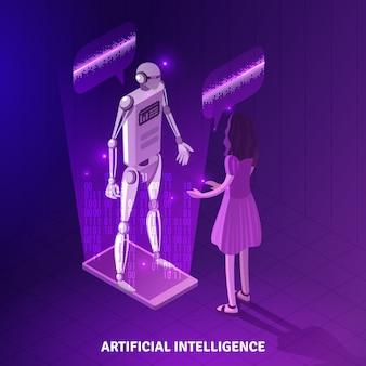 Künstliche intelligenz isometrische zusammensetzung
