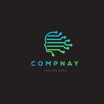 Künstliche intelligenz logo design