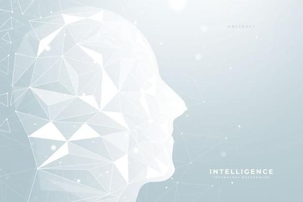 Künstliche intelligenz-niedriger polyhintergrund