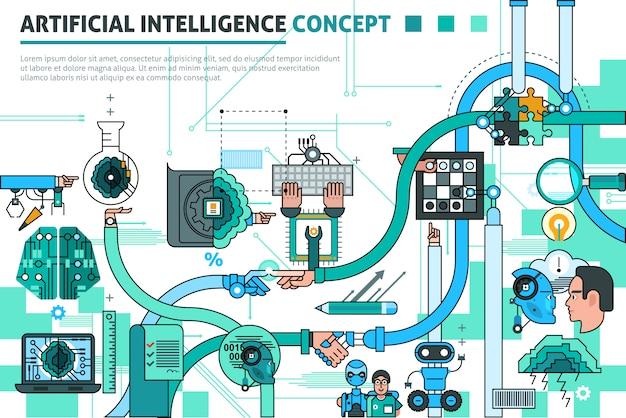 Künstliche intelligenzkonzept-zusammensetzung